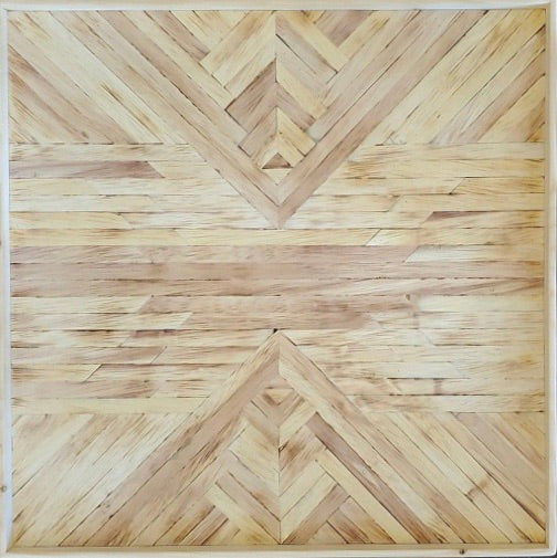 Wood mosaic: Raw Collection, 2x2 ft