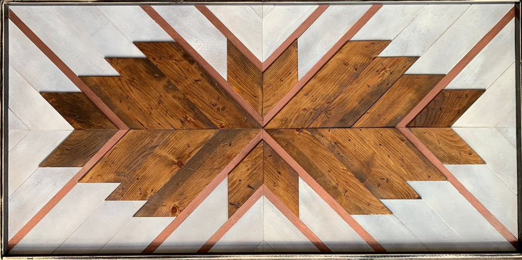 "Reclaimed wood art: ""Aim High"""