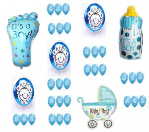 Birth Announcement Balloons Set -It's A Boy