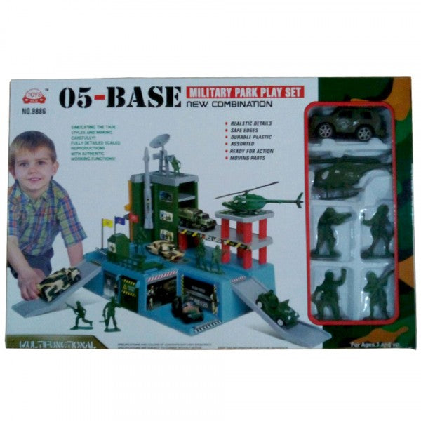 Military parking play set for kids