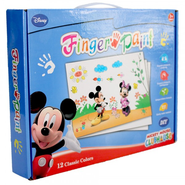 Mickey mouse finger painting for kids