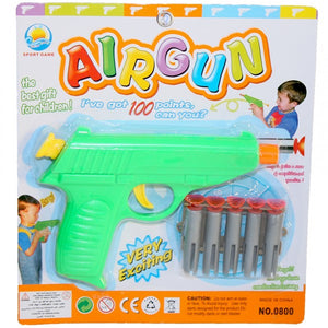 Toy airgun with darts