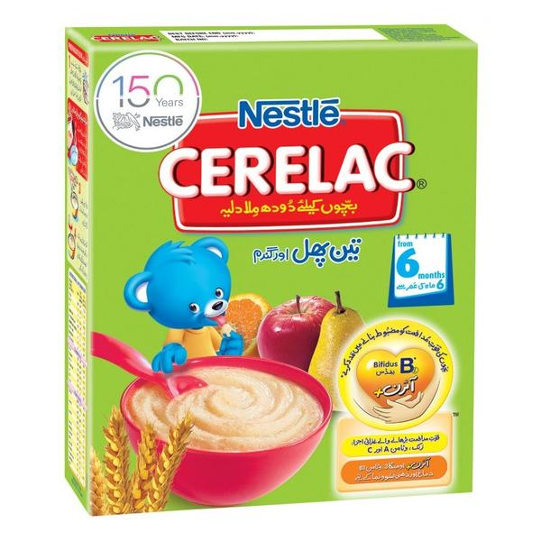 Cerelac NESTLÉ CERELAC (3 FRUITS) - 350 gm