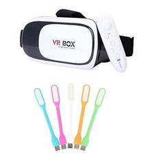 HashTag Pack of 2 - Virtual Reality Glasses with Remote & USB LED Lights