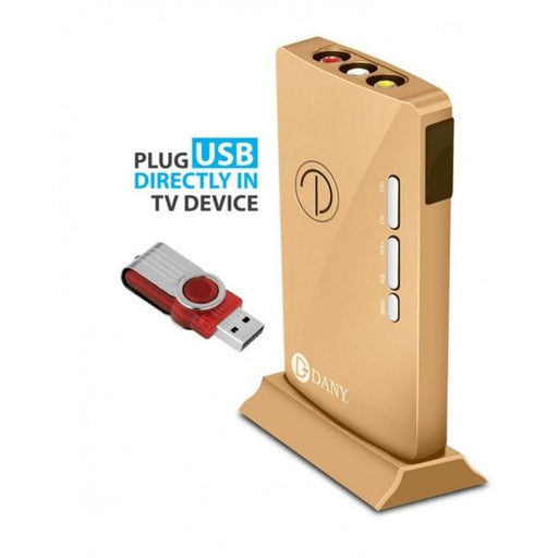 DANY LED TV Device with USB Video Player Function - Golden