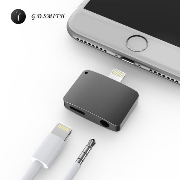 G.D.SMITH 2 in 1 Adapter Converter,Headphone Jack For iPhone