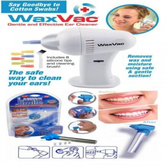 WAX VAC – FOR CLEANING EAR WAX