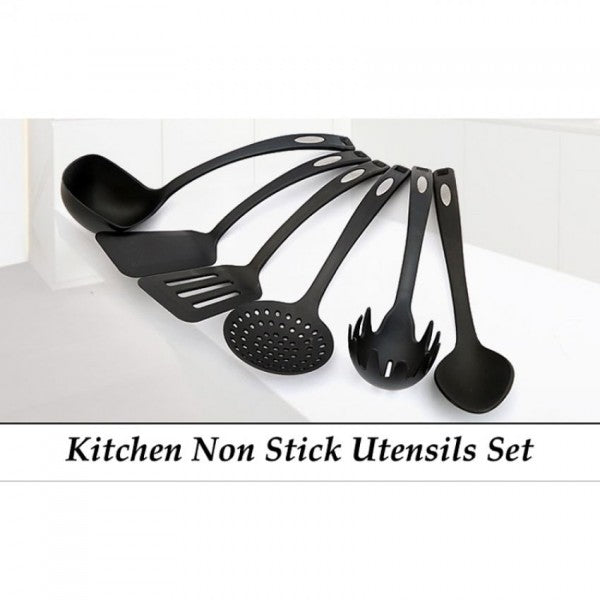 Pack Of 6 Non-Stick Cooking Utensils