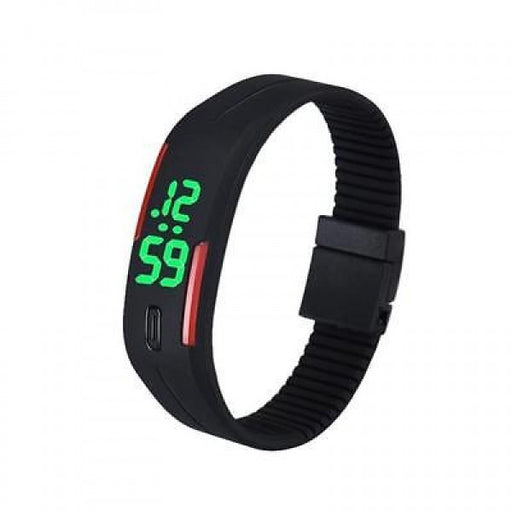 NEW UNISEX WOMEN BRACELET WATCH RUBBER LED DATE SPORTS WATCH DIGITAL WRIST WATCH