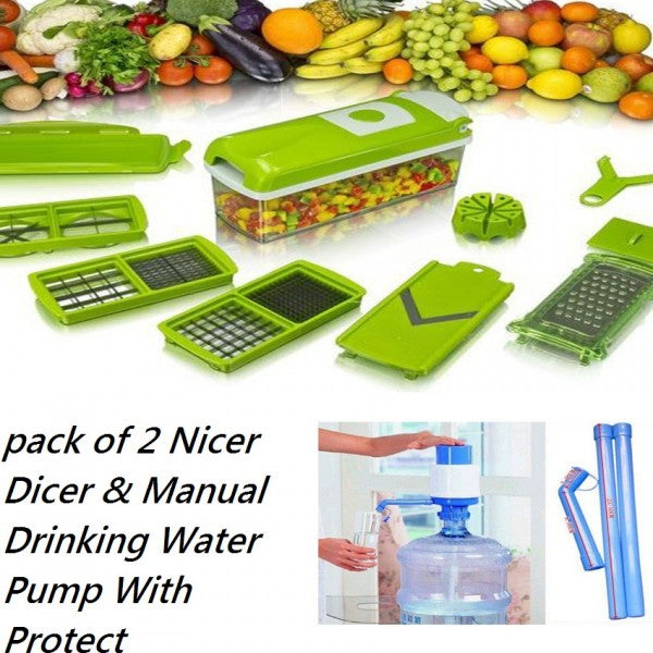 Pack Of 2: Nicer Dicer + Manual Drinking Water Pump With Protect