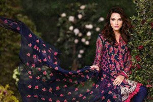Mina Hassan full suit chiffon heavy embroidery