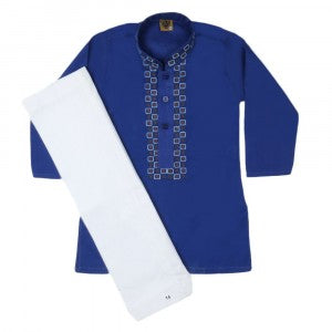Boys Cotton Shalwar Suit - Blue