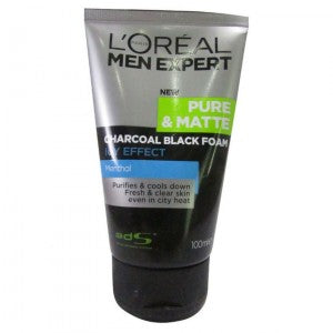 Loreal 100 ML Men Expert Pure & Matte Charcoal Black Foam