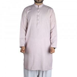 Men's Light Purple Cotton Kurta
