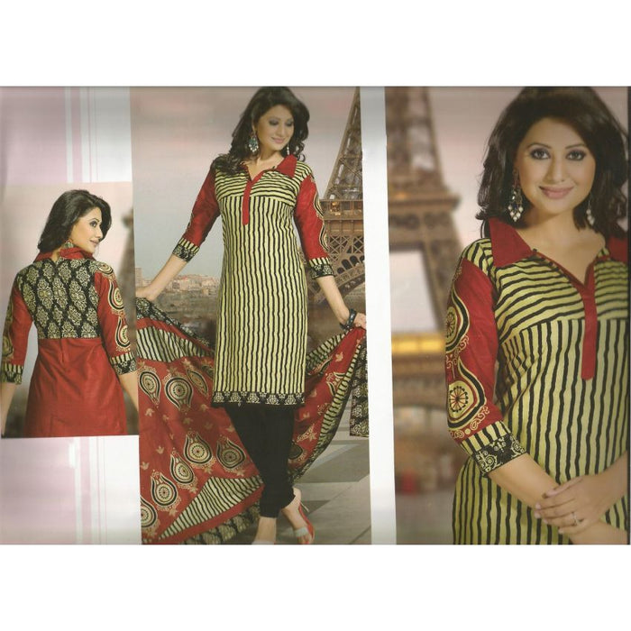Masti Indian Cotton Suit 1308