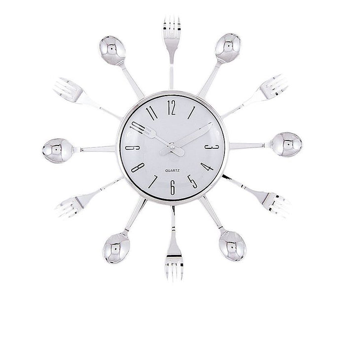 Spoon & Fork Wall Clock for Kitchen