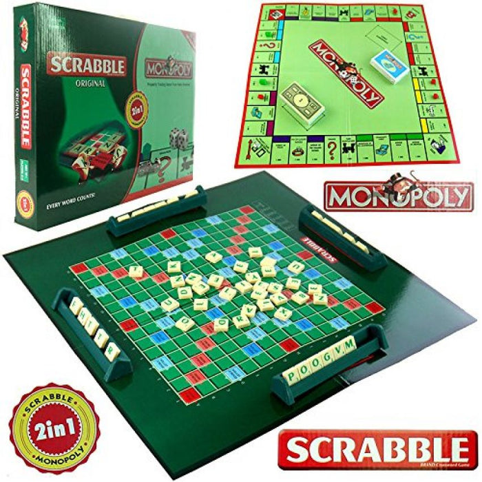Scrabble and Monopoly 2 in 1 Game