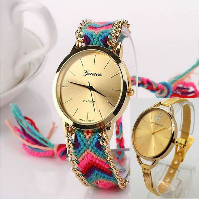 Pack of 2 Wrist Watches For Women