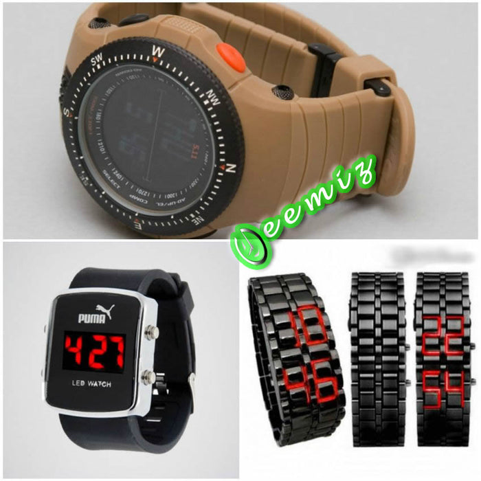 Pack of 3 Digital Watches