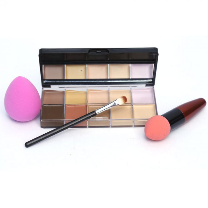 Kiss Beauty 10 Color Contour Kit and Flawless Puff