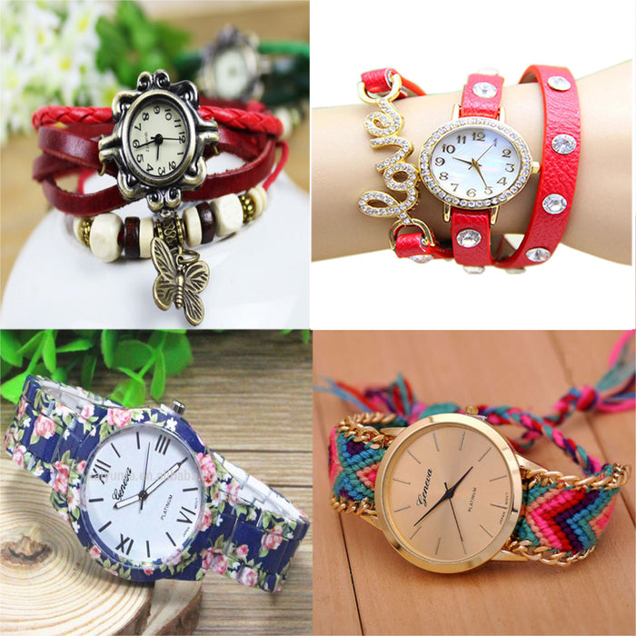 Pack of 4 Bracelet Watches for Women