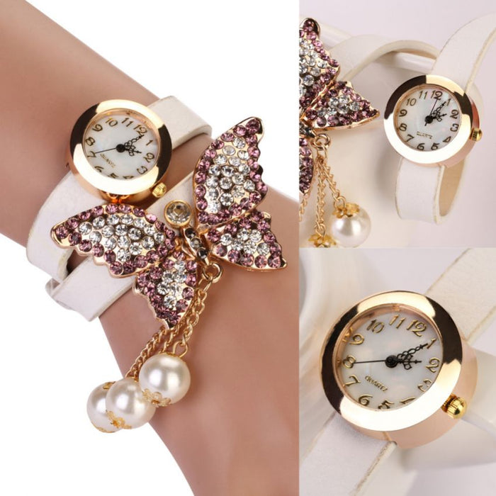 Watch for Women - Pack Of 2 Butterfly Bracelet Watches
