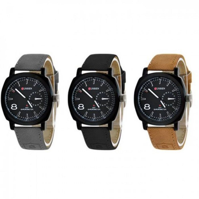 Pack Of 3 Curren Watches For Men