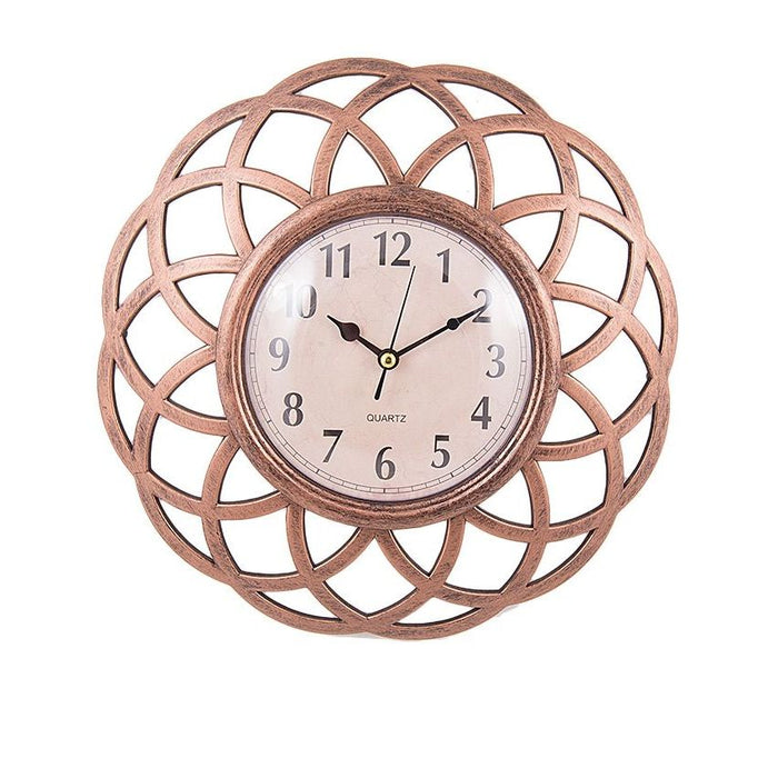 Bronze Flower Wall Clock