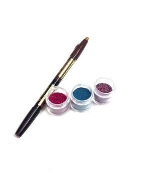 Eyeshah's Usha's Two Sided Kajal & Liner Pencil with Nail Art Beads