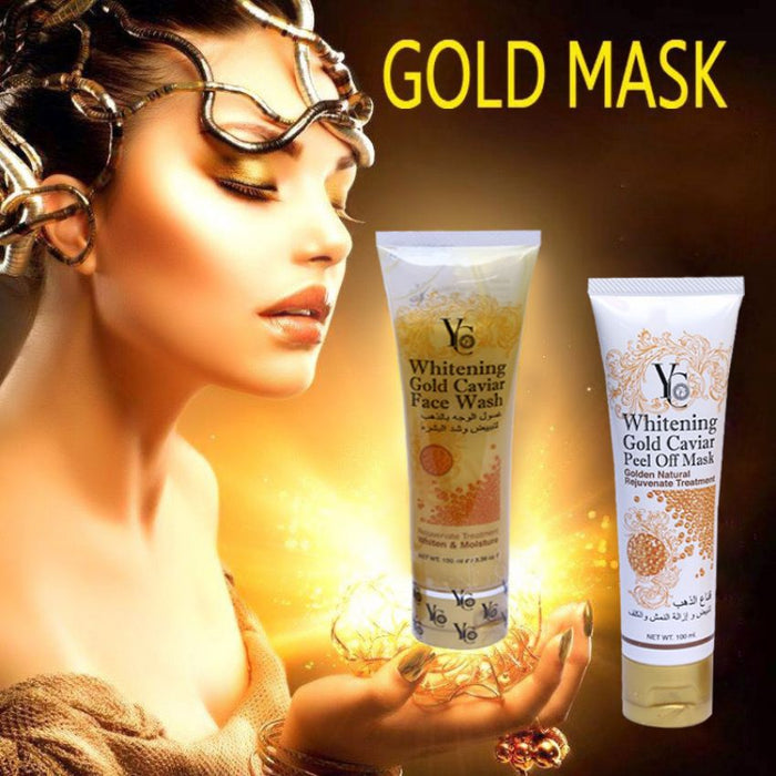 Combo of 1 Whitening Gold Caviar Face Wash + 1 Peel Off Mask