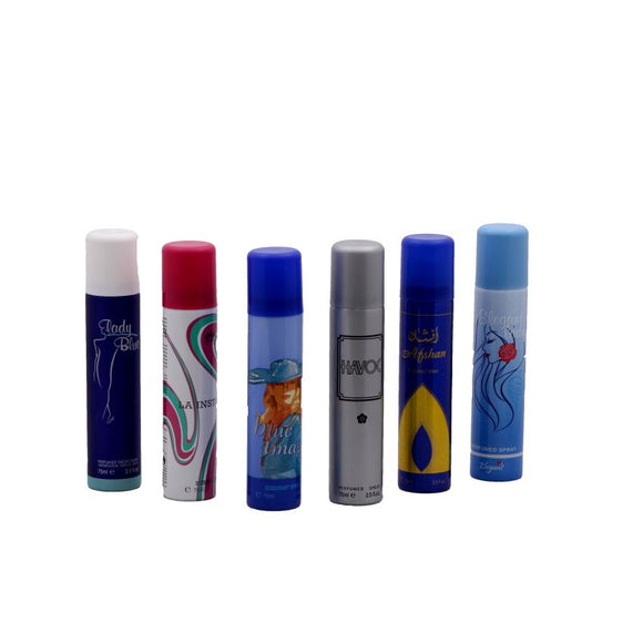 Pack of 6 Body Sprays for Her
