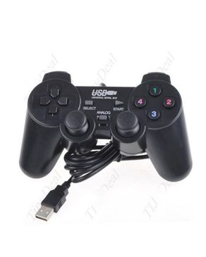 Y.Ali USB PC Dual Shock Game Controller - Black