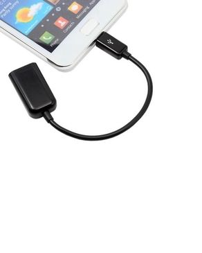 H &Co OTG USB Cable - Black
