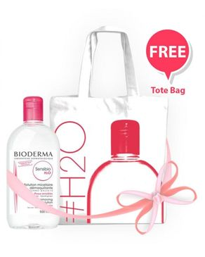 Bioderma Sensibio - H2O - 500ML + Tote Bag Free
