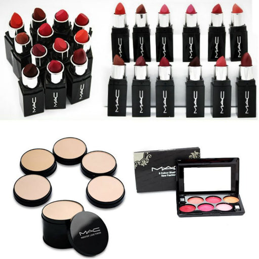 Combo of 6 Mac Lipsticks with 2 Mac Cosmetics for Her