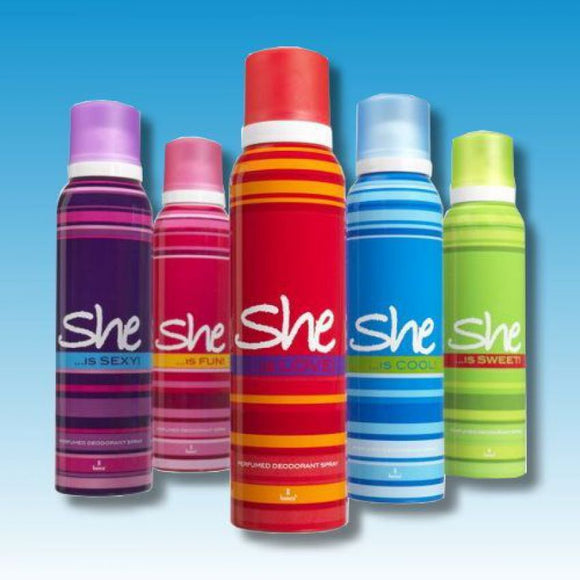 Pack of 5 She Body Spray for Women