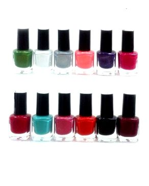 Eyeshah's Pack of 12 - Peel Off Nail Paints