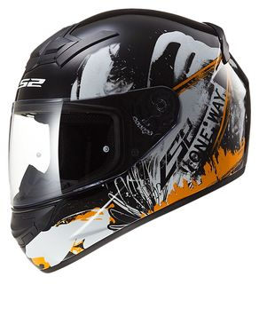 LS2 Rookie One Helmet - Black Orange