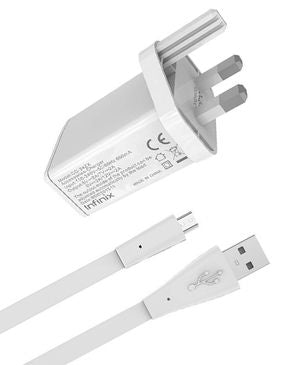 Super Fast Flash Charger for Infinix Note Series X - White