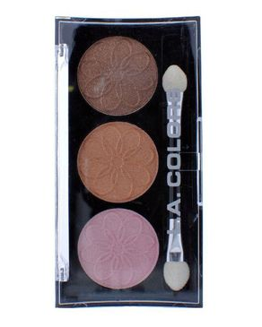 L.A Colors 3 Color Eyeshadow - Orchid