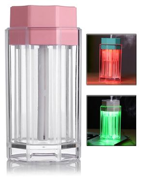 GS Wholeseller Mini USB Air Humidifier with LED Night Light - Pink