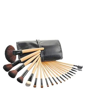Glamorous Face Makeup Brush Set - 18 Pcs - Beige