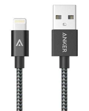 Nylon-Braided USB To Lightning Cable (3ft / 0.9m) - Black