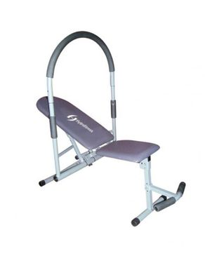 Hydro Fitness Ab King Pro With Back Wheel Support - Black & Silver