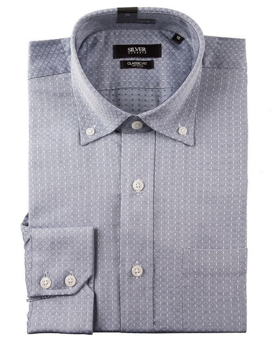 Gul Ahmed Grey Polycotton Formal Shirt for Men - Cm-Yd-1864