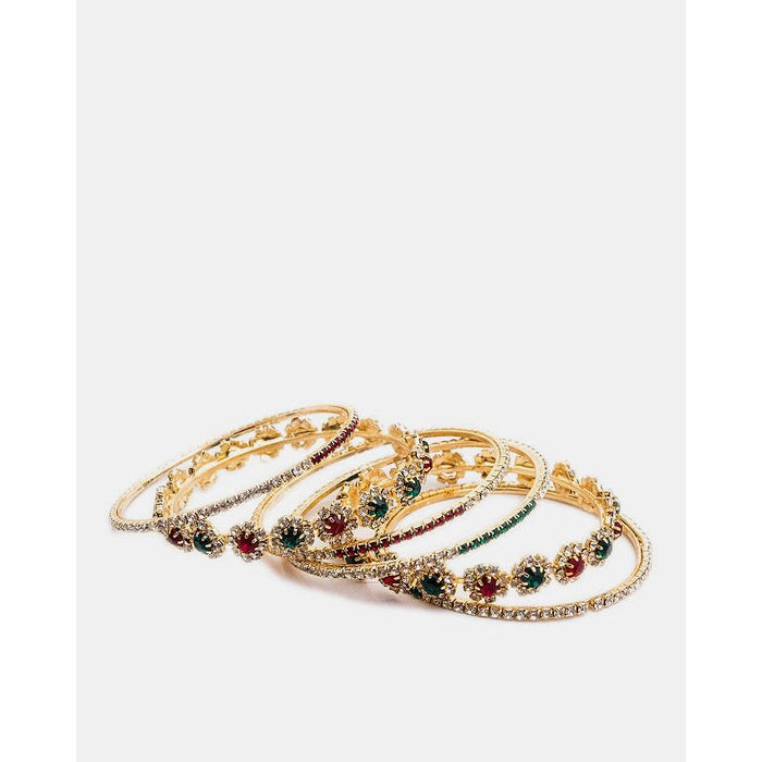 Gold Plated Zirconia Bangles Set
