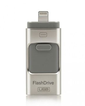 GS Wholeseller iFlash - 32GB - 3-in-1 - USB OTG Flash Drive - Silver