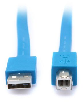 I Craze USB Printer Plated Cable - 1.5m - Blue