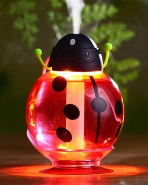 P.A Beatle USB Humidifier Air Fresher Diffuser LED Night Lamp - Red