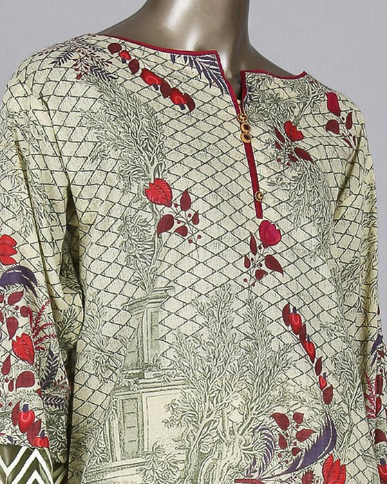 Junaid Jamshed Beige Lawn 2pc Pret Suit for Women - JLAWN-S-17-064/S Victorian Chintz